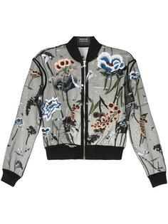 куртка-бомбер с вышитыми цветами с бусинами Markus Lupfer
