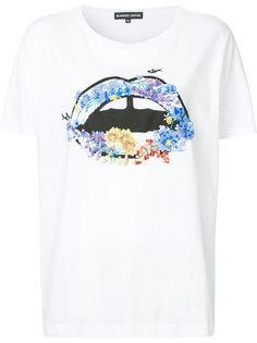 футболка с губами с пайетками Markus Lupfer