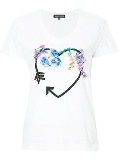 футболка с сердцем с пайетками Markus Lupfer