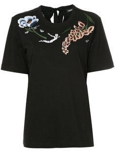 футболка с вышитыми цветами Markus Lupfer