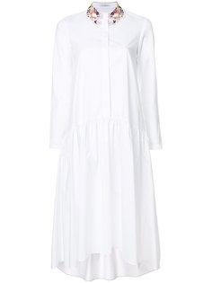 платье-рубашка с вышивкой на воротнике Vivetta