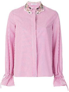 полосатая рубашка с вышивкой на воротнике Vivetta