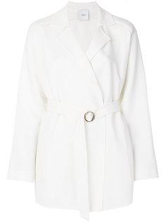 пальто с ремнем на талии Agnona