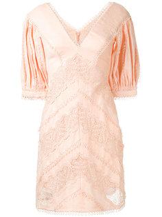 платье с V-образным вырезом  Zimmermann