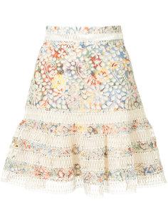юбка с цветчным вышитым узором Zimmermann