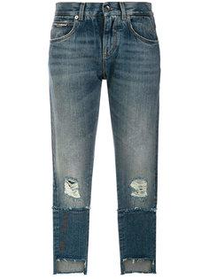 укороченные джинсы с потертой отделкой Dolce & Gabbana