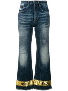 расклешенные джинсы с пайетками Dolce & Gabbana