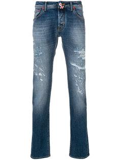 джинсы с заплаткой в виде флага Jacob Cohen