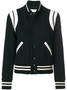 two-tone teddy jacket Saint Laurent