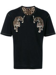 футболка с заплатками в виде леопарда Dolce & Gabbana