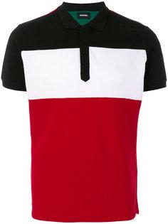 футболка-поло дизайна колор-блок Diesel