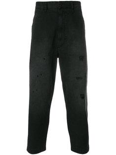 прямые джинсы с эффектом потертости Diesel