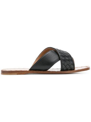 сандалии с плетеным дизайном Bottega Veneta