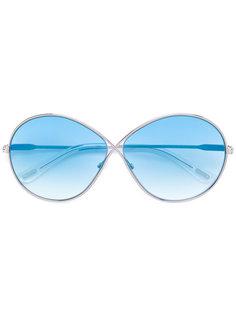 солнцезащитные очки с массивной оправой Tom Ford Eyewear