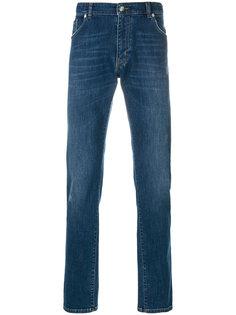 джинсы прямого кроя с заплаткой Billionaire