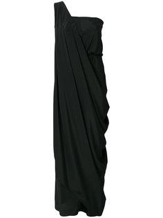 асимметричное платье с драпировкой William Vintage