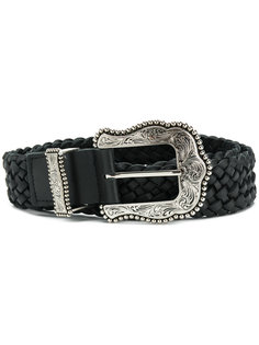 woven buckle belt B-Low The Belt