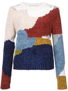 пуловер с нашивками из шенилла Rosetta Getty