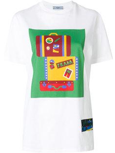 футболка с логотипом box Prada