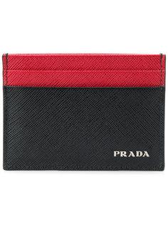 двухцветная визитница  Prada