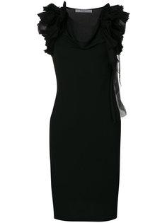 платье-шифт с оборками Givenchy