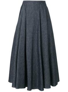 расклешенная джинсовая юбка  Rochas