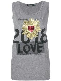 топ с нашивкой  в виде сердца Dolce & Gabbana