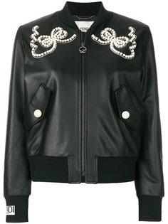 декорированная куртка-бомбер Fendi