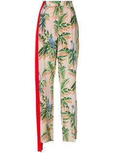 брюки с растительным принтом Stella McCartney