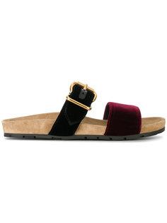 сандалии с двумя ремешками Prada