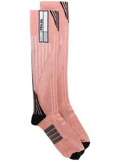 """носки с геометрическим узором в технике """"интарсия"""" Prada"""
