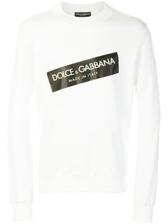 толстовка с принтом-логотипом  Dolce & Gabbana