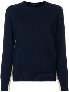 свитер с контрастными панелями Joseph