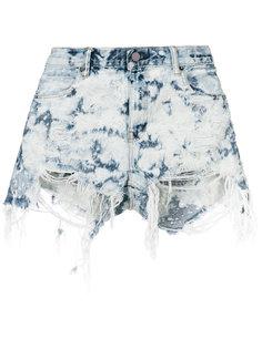 шорты с потертой отделкой Alexander Wang