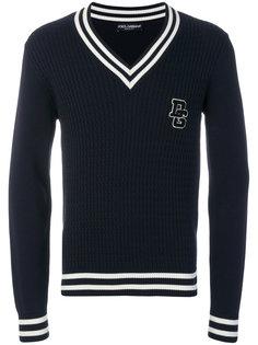 свитер вязки косичкой Dolce & Gabbana
