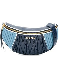 двухцветная сумка на пояс Miu Miu