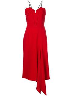 креповое платье с драпированным подолом Roland Mouret