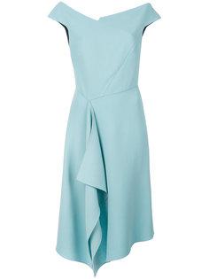 асимметричное драпированное платье  Roland Mouret