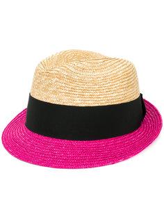 """шляпа-трилби дизайна """"колор-блок"""" Prada"""