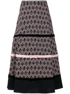 юбка с геометрическим узором и бантами Vivetta