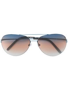 солнцезащитные очки с контрастной полоской на линзах Matthew Williamson