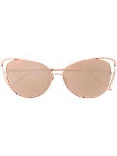 """солнцезащитные очки """"кошачий глаз"""" Linda Farrow"""