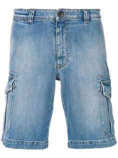 джинсовые шорты прямого кроя Eleventy