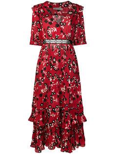 длинное платье с цветочным принтом Self-Portrait