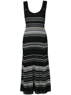 расклешенное платье в полоску Proenza Schouler