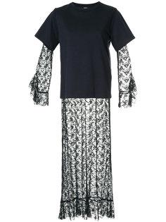 длинное платье с многослойным эффектом Goen.J