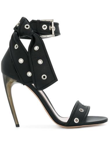босоножки на изогнутых каблуках Alexander McQueen