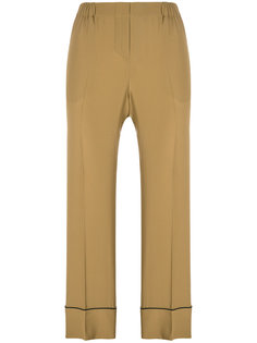 широкие укороченные брюки  Nº21