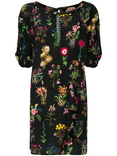 платье-шифт с рюшей и цветочным принтом Nº21