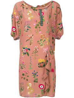 платье шифт с цветочным украшением Nº21